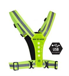 Bee Sports Led Harness USB Lime 18800-101