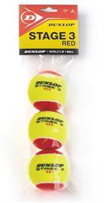 DUNLOP stage 3 rood per zak van 3 ballen 605053