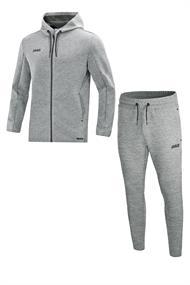 JAKO Joggingpak met Jas met kap Premium Basics m9729-40