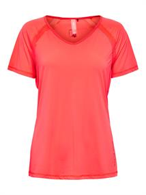 ONLY PLAY Perf. Training SS V-Neck Tee 15190109 coral