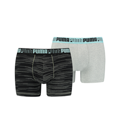 PUMA MEN SPACEDYE STRIPE BOXER 2P 100001140-001