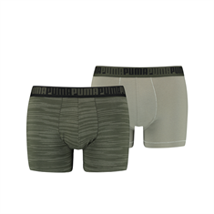 PUMA MEN SPACEDYE STRIPE BOXER 2P 100001140-003