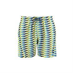 PUMA SWIM MEN MEDIUM LENGTH SWIM SHORTS 1P Blue/Yellow 100000074-006