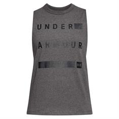 Under Armour Muscle Tank Linear Wordmark-cch//blk 1310482-019